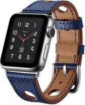 123Watches.nl bandje - Apple Watch Series 1/2/3/4 (42&44mm) - Donker blauw