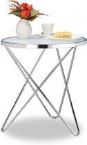 relaxdays - bijzettafel medium - melkglas - loungetafel, salontafel, koffietafel