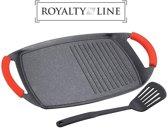 Royalty Line - Grillplaat - Marble Coating - Met ribbel