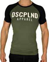 Raglan Fitness T-Shirt | Olijf - Disciplined Apparel