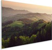 Zonsondergang bij het Duitse Zwarte Woud in Europa Plexiglas 90x60 cm - Foto print op Glas (Plexiglas wanddecoratie)