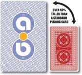 Aidapt - speelkaarten groot - 13.6 x 8.9 cm