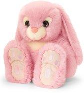 Keel Toys pluche konijn roze konijnen knuffel 25 cm - Konijnen knuffeldieren - Speelgoed voor kind