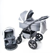 P'tit Chou  Prato sport  Kinderwagen-Buggy-Autostoel  Stof - Grijs