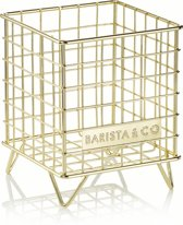 Barista & Co Koffie Cups Mand - Rvs - 13,5 x 13,5 x 17 cm - Electric Gold