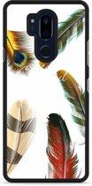 LG G7 Hardcase Hoesje Feathers World