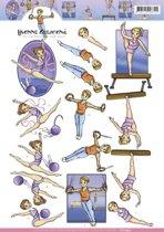 3D knipvel Yvonne Creations - Gymnastiek