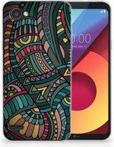 LG Q6   LG Q6 Plus TPU Hoesje Design Aztec