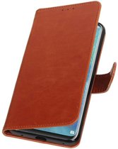 Bruin Pull-Up Booktype Hoesje voor Huawei Mate 20 Pro