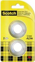 Scotch® Dubbelzijdige Tape, Navullingen, 12 mm x 6.3 m, 2 rollen/kaart