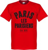 Paris Saint Germain Established T-Shirt - Rood  - S