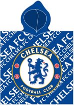 Chelsea Badponcho Logo 60 X 120 Cm Blauw