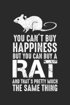 You Can't buy Happiness but you can buy a Rat and that's pretty much the same thing: Funny Rat Lovers Rodent Owner Dot Grid Notebook 6x9 Inches - 120