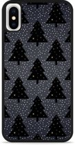 iPhone X Hardcase hoesje Snowy Christmas Trees