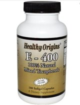 Vitamine E-400 (180 Softgel Capsules) - Healthy Origins