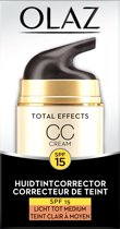 Olaz Total Effects 7in1 CC Cream SPF15 Licht Tot Medium - 50ml - Dagcrème
