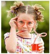 LeuksteWinkeltje Drink bril rietje Oranje