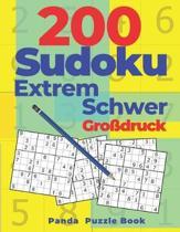 200 Sudoku Extrem Schwer Gro�druck: Denkspiele F�r erwachsene - Logikspiele F�r Erwachsene