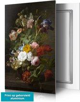 Bloemen in vaas 4 – op aluminium