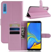 Book Case Samsung Galaxy A7 (2018) Hoesje - Pink
