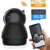 Looki® 1080P Cloud Wifi HD Camera met iOS & Android App – I8 Zwart -  Bestuurbare IP Video Beveiligingscamera met IR Nachtzicht en Bewegingssensor – Two-Way Audio – Babyfoon met app