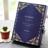 Luxe Vintage Dagboek Met Cijferslot - Notebook Met Geheime Code Slot - Violet