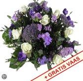 Flowerservice.nl Gemengd boeket Gemengd boeket blauw, paars, wit