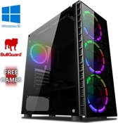 Centre 4SW Game PC - 4.0GHz AMD 4-Core CPU, GTX 1050, Gaming Desktop PC met 22