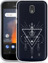 Nokia 1 Hoesje Abstract Moon White