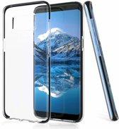Samsung Galaxy S8 Transparant Back Anti Drop TPU Hoesje Zwart