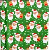 Gift Deco Inpakpapier Kerstman 70 Cm X 4 M Groen