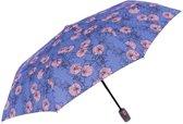 Perletti Paraplu Bloem Opvouwbaar 96/54 Cm Dames Paars/roze