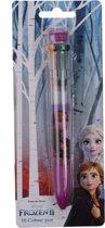 Disney Frozen 10 Kleuren Pen - Balpen - Tekenen - Knutselen - Paars/Roze