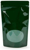 Stazakken Groen met ovaal Venster 13x7x20,5cm | 113 gram (100 stuks)