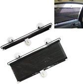 Intrekbare auto zonnescherm voor auto zijruit, afmeting: 60cm x 40cm, willekeurige kleurbezorging