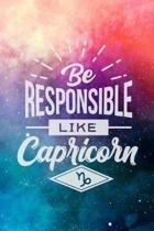 Be Responsible Like A Capricorn