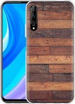Huawei P Smart Pro Hoesje Houten planken