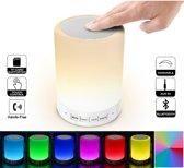 Hoog Touch-lamp Bluetooth-luidspreker, LED-nachtlampje Licht-dimbare kleur en instelbare helderheid voor goed slapen, Draagbare tafellamp buiten, Geschenken voor dames Heren Kinderen Kinderen