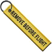 Sleutelhanger 'Remove Before Flight' (Geel)