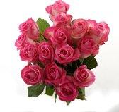 Boeket van Botanicly – Roos Candy Avalanche Medium (15 stuks) – Hoogte: 60 cm , 15 takken