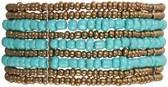 B0100800 - Armband - kunststof - blauw