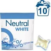 Neutral 0% Parfumvrij Wit Capsules - 10 wasbeurten - 10 stuks - Wasmiddel