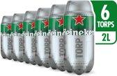Heineken TORP Pack - 6 TORP Bierfusten x 2 liter