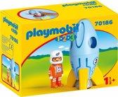 PLAYMOBIL 123 Astronaut met raket - 70186