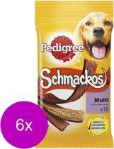 Pedigree Schmackos Vleesstrips - Multi - Hondensnacks - 6 x 10 stuks