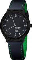 Mondaine Regular NY MH1.R2221.LB Horloge - Leer - Zwart - Ø40 mm