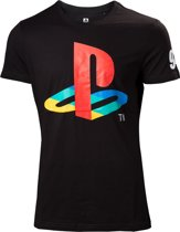 PlayStation - Classic Logo And Colors heren unisex T-shirt zwart - S