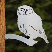 Steenuil RVS - By Aimy Birds - 29,6 x 24,5 cm BxH