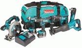 MAKITA Accu Combiset DLX6038T - 18 V - Combiset - Voor Divers Zaag-, Boor- En (Slag)Schroefwerk