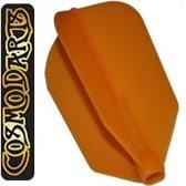 Cosmo Darts Fit Flight Super Slim Orange  Set à 3 stuks Donker Zwart